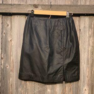 Newport News : Real Leather Skirt